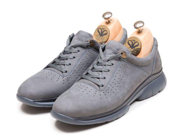 کفش اسنیکرز مردانه رنگ طوسی مدل لسکون