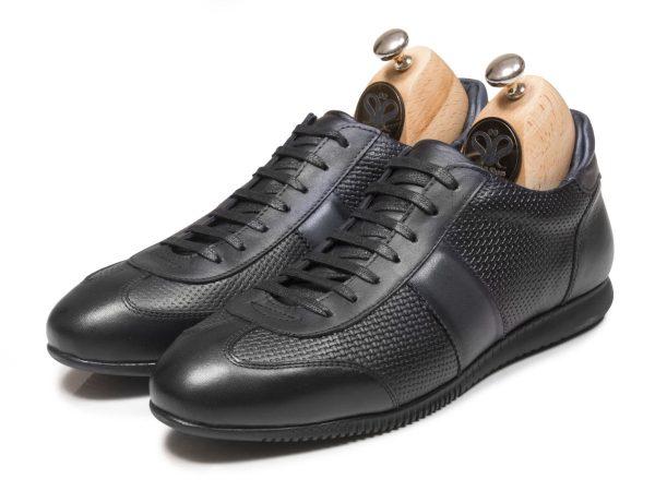 کفش اسنیکرز مردانه مشکی مدل برنی