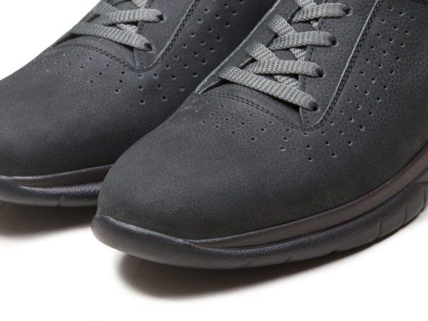 کفش اسنیکرز چرم پسرانه مدل لسکون رنگ نوک مدادی