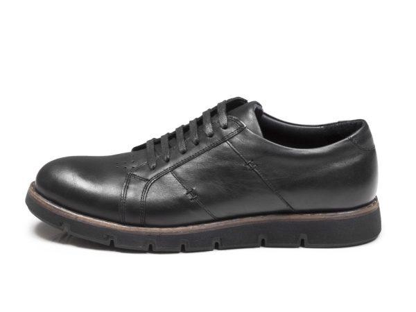 کفش اسپرت چرم مردانه مدل فورتیس مشکی