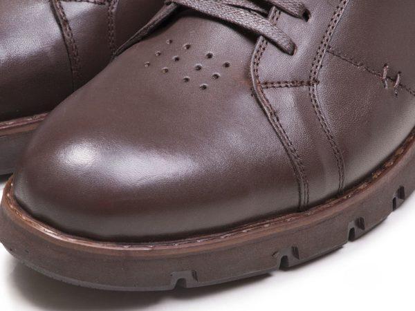 کفش اسپرت کلاسیک مردانه فورتیس چرم مات قهوه ای