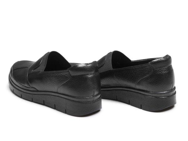 کفش تخت لژدار زنانه طبی مدل سلدا مشکی