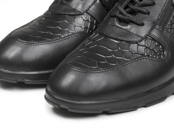 کفش دخترانه اسنیکر مدل شکیلا رنگ سیاه
