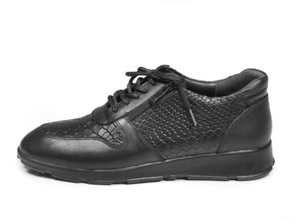 کفش زنانه اسنیکر رنگ مشکی مدل شکیلا