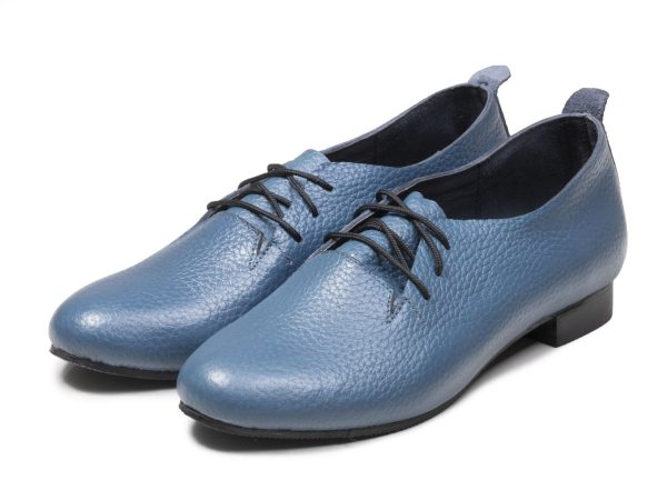 کفش زنانه تخت مدل روکا رنگ آبی