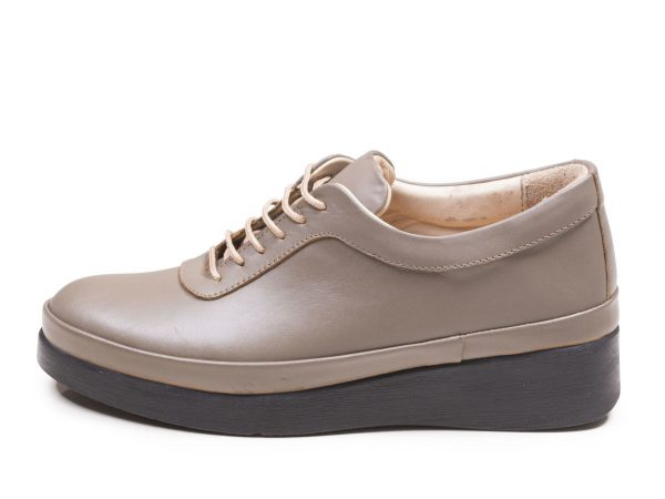 کفش زنانه لژدار مدل مولینا رنگ ویزون کرم