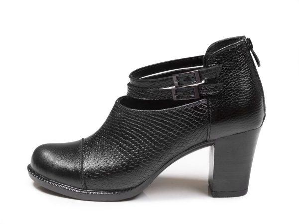 کفش زنانه پاشنه بلند 7 سانتی مدل بانیا مشکی