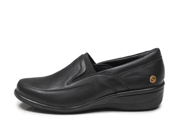 کفش طبی زنانه رنگ سیاه اداری مدل آیدا