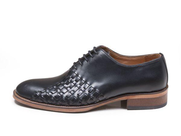 کفش مجلسی چرمی مدل دیبالا رنگ مشکی