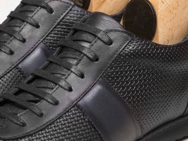 کفش چرم اسپرت مردانه مدل برنی مشکی