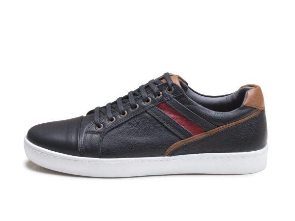 کفش چرم اسپرت مردانه مدل کریس رنگ مشکی