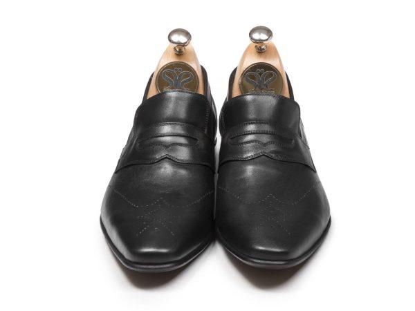 کفش چرم تبریز مدل فرانسوی تمام دستدوز