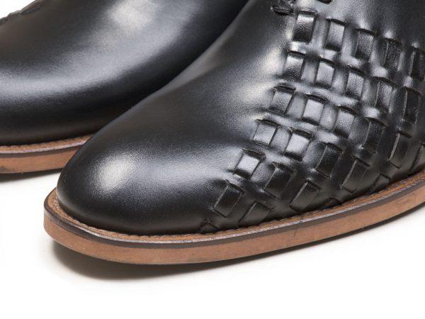 کفش چرم دستدوز تبریز مدل دیبالا مشکی