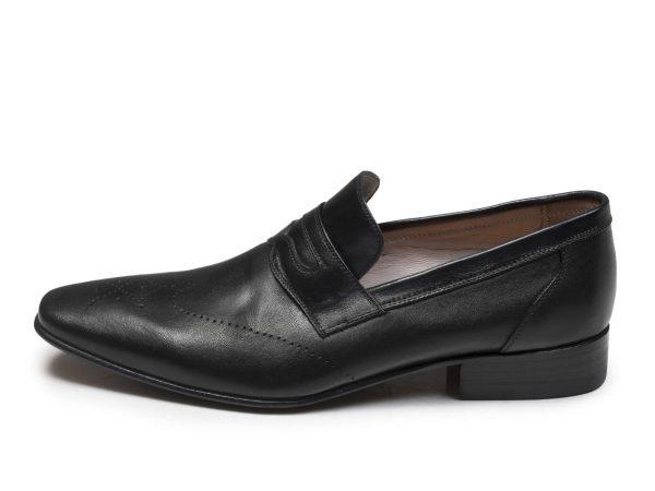 کفش چرم مردانه مدل فرانسوی رنک مشکی