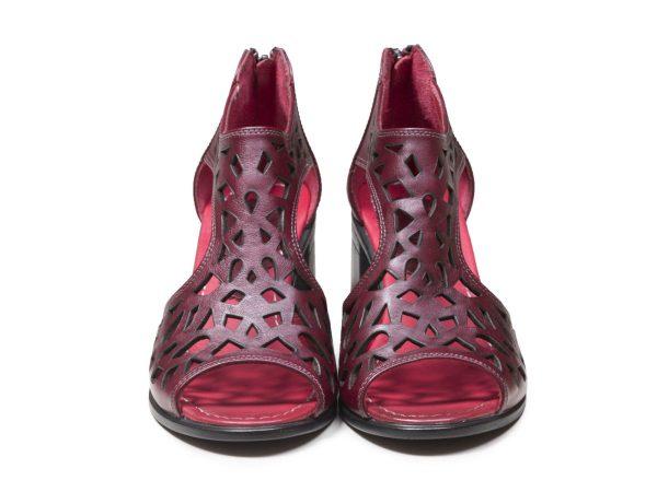 طرح لیزری کفش تابستانی زنانه مدل لاله