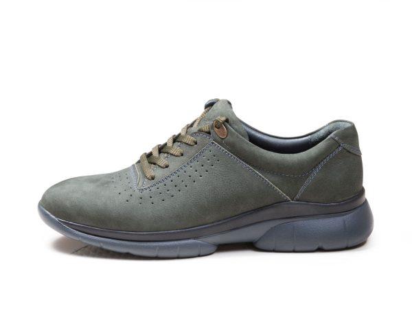 کفش اسنیکرز مردانه چرمی مدل لسکون سبز