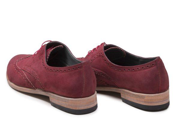 کفش زنانه چرم مشابه کفش مردانه
