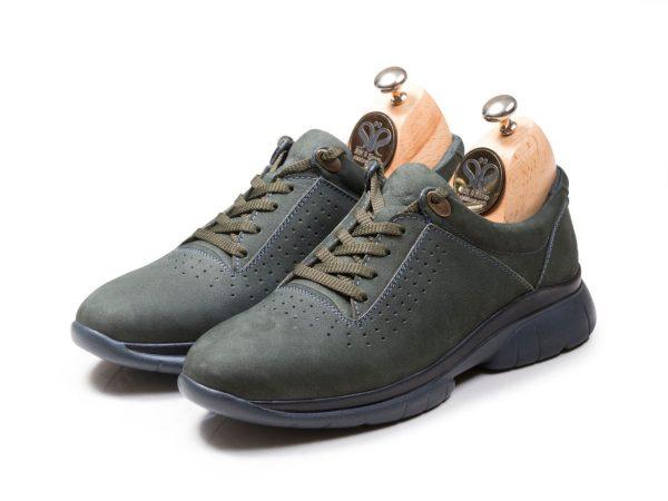 کفش چرم اسنیکرز مدل لسکون