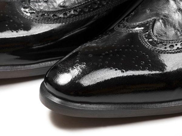 چرم ورنی کفش مجلسی مدل ارس