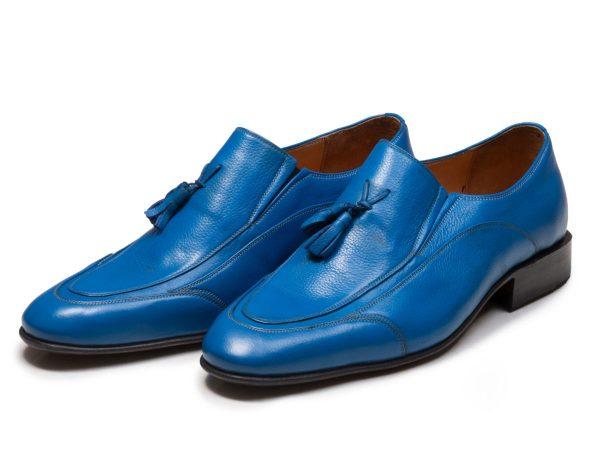 کفش مردانه لوفر مدل اورتون رنگ آبی