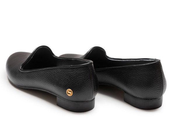 پاشنه تخت و پهن کفش زنانه آیسل مشکی