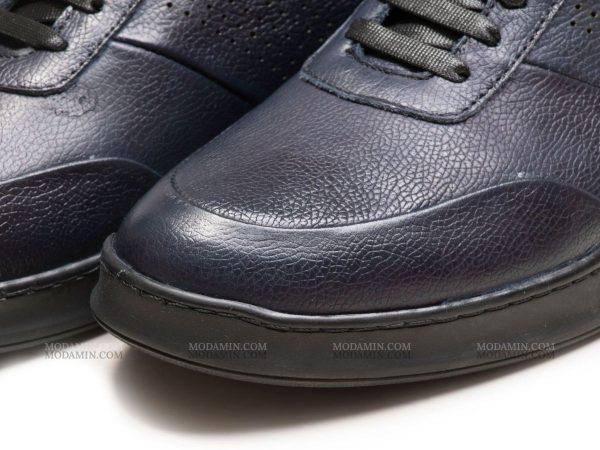 چرم میلینگ کفش اسپرت مدل نوفل سرمه ای