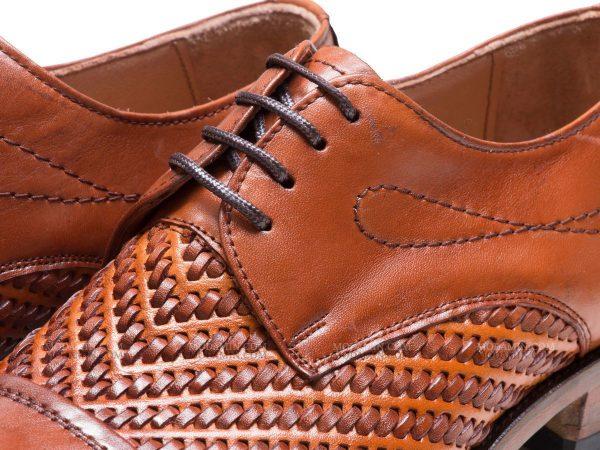 چرم بافته شده کفش مجلسی مردانه