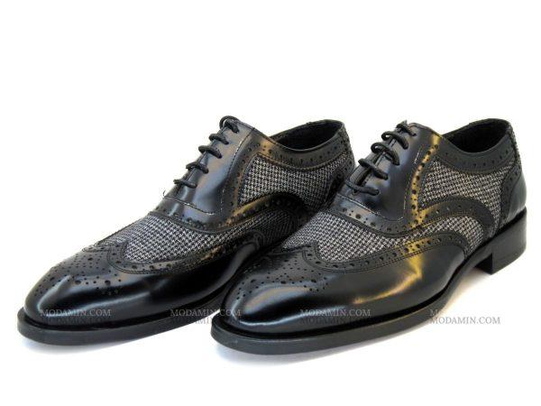 مدل کفش مجلسی مردانه چرمی مدل ویلیام مشکی ورنی