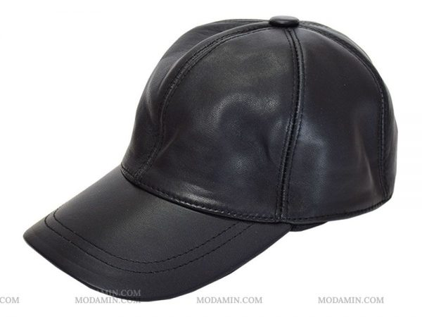 کلاه چرم کپ مدل راینو مشکی
